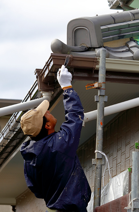 屋根塗装画